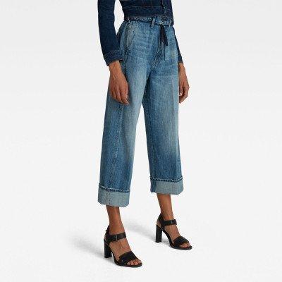 G-Star RAW Lintell High Dad Jeans - Midden blauw - Dames