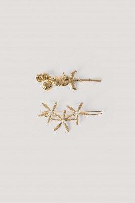 NA-KD Accessories NA-KD Accessories 2-Pack Haarspelden Met Zeester - Gold