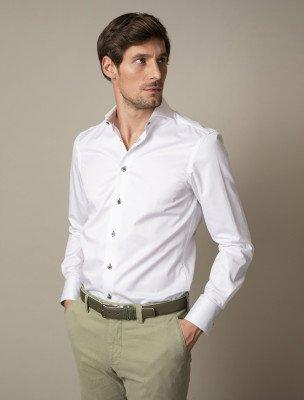 Cavallaro Napoli Cavallaro Napoli Heren Overhemd - Colombo Overhemd - Wit