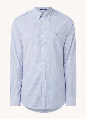 Gant Gant Banker regular fit overhemd met streepprint