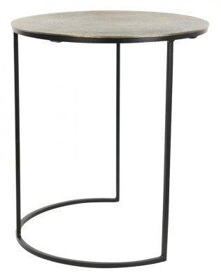 Light & Living Light & Living Bijzettafel 'Primo' Set van 2 stuks, zwart-brons+mat zwart