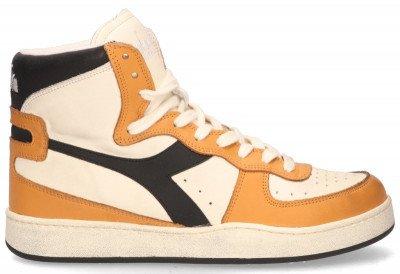 Diadora Heritage Diadora Heritage Mi Basket Used Off-White/Oranje/Zwart Damessneakers