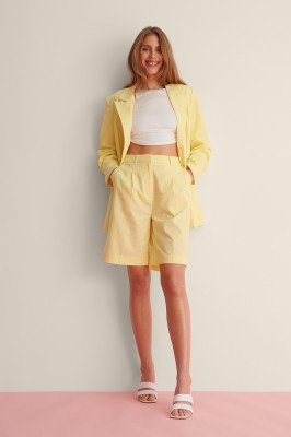Curated Styles Curated Styles Te Groot Linnen Short - Yellow