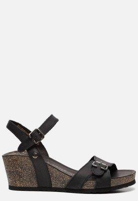 Panama Jack Panama Jack Valentine Basics B1 sandalen met sleehak zwart