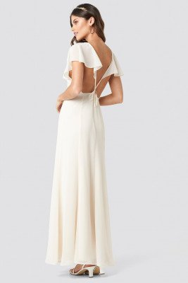 NA-KD Party NA-KD Party Back Detail Maxi Dress - White