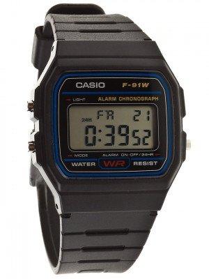 Casio Casio F-91W-1YEG zwart