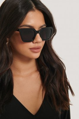 NA-KD Accessories NA-KD Accessories Sharp Edge Square Sunglasses - Black