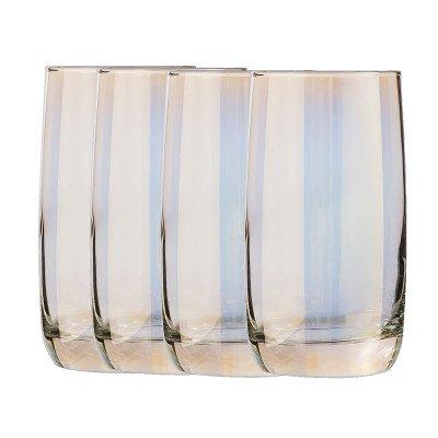 Xenos Waterglazen goud - 330 ml - set van 4