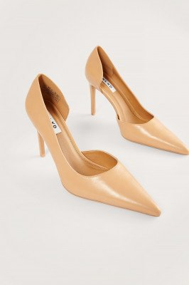 NA-KD Shoes NA-KD Shoes Hoge Hakken Met Zijsnede - Beige