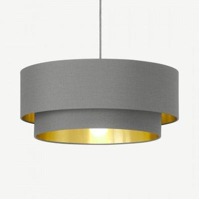 MADE.COM Oro lampenkap met lagen, grijs en messing