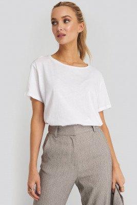 NA-KD Basic Basic Oversized T-Shirt - White