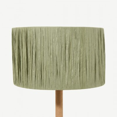 MADE.COM Cruz lampenkap, 30 cm, groen raffia