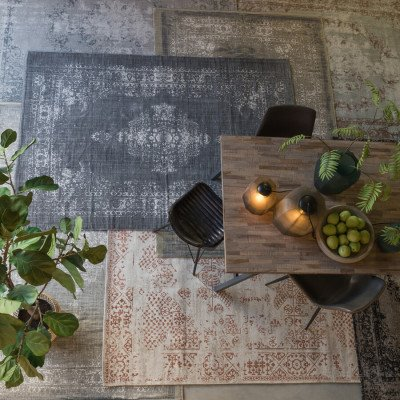 Light en Living Light & Living Vloerkleed 'Obar' 160 x 230cm, kleur Grijs