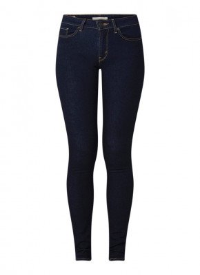 Levi's Levi's 711 mid waist skinny fit jeans met donkere wassing