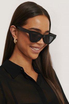NA-KD Accessories NA-KD Accessories Sharp Triangular Cateye Sunglasses - Black