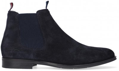 Tommy Hilfiger Blauwe Tommy Hilfiger Chelsea Boots Casual Suede