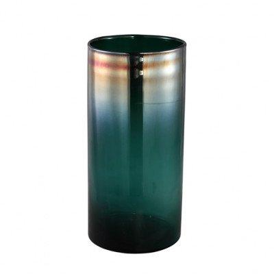 Firawonen.nl PTMD dyana blauw oil glas vaas rond hoog l