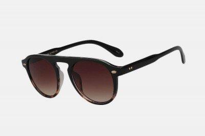 Blank-Sunglasses NL NOIR. - Blackleopard with brown