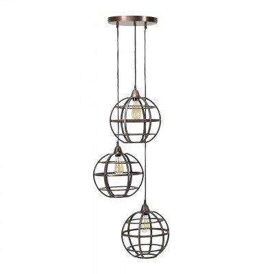 LifestyleFurn Hanglamp 'Tatsuya' 3-lamps, Ø33 cm