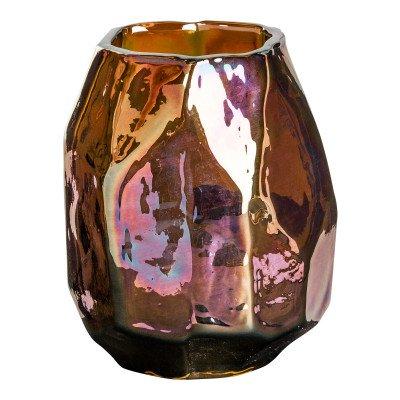 Firawonen.nl Valeria gold organic glass vase bombey