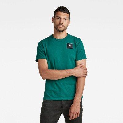 G-Star RAW T-Shirt Badge Logo + - Groen - Heren
