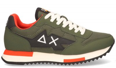 SUN68 SUN68 Niki Solid Groen Herensneakers