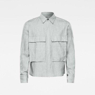 G-Star RAW GSRR Cropped Regular Shirt - Grijs - Heren