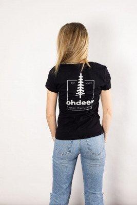 ohdeer NL Tree T-Shirt | Deep Black