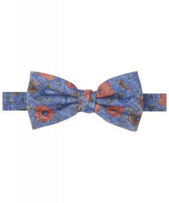 Profuomo Profuomo heren blauwe bloemenprint strik