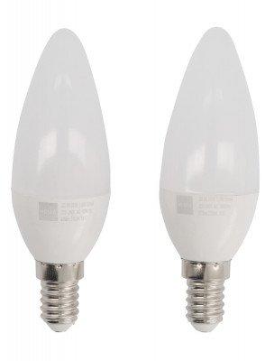 HEMA LED Lamp 40W - 470 Lm - Kaars - Helder - 2 Stuks (wit)