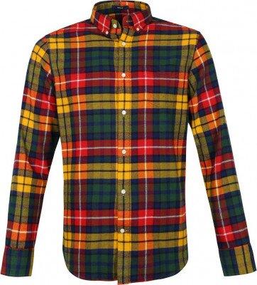 Gant Gant Casual Overhemd Flanel Ruit Geel