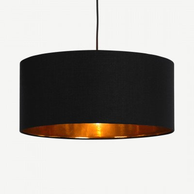 MADE.COM Oro hanglampenkap, zwart en koper