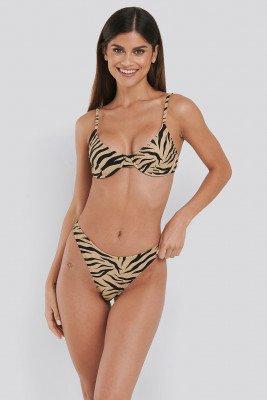 NA-KD Swimwear NA-KD Swimwear Hoog Uitgesneden Bikinibroekje - Multicolor