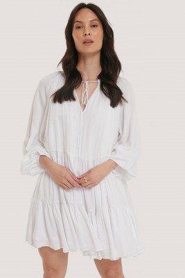 Glamorous Mini-Jurk - White
