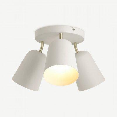 MADE.COM Norah badkamer inbouwlamp, warmgrijs en geborsteld messing