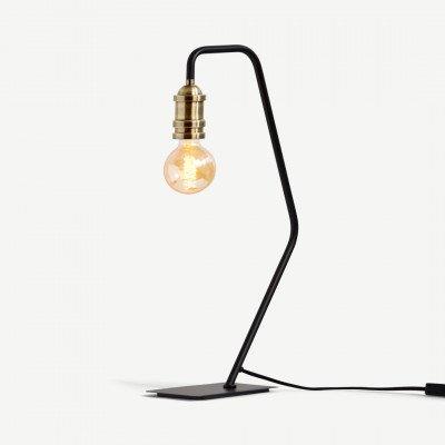MADE.COM Starkey tafellamp, zwart en messing