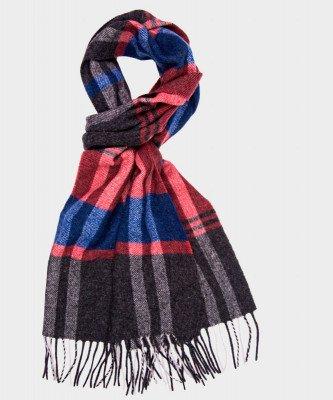 Michaelis Michaelis heren klassieke geweven sjaal bordeaux