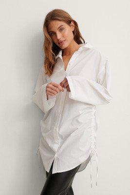 NA-KD NA-KD Organisch Oversized Shirt - White