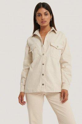 NA-KD Reborn Organisch Denim Shirt - White