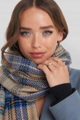 NA-KD Accessories NA-KD Accessories Oversized Chunky Checked Scarf - Multicolor