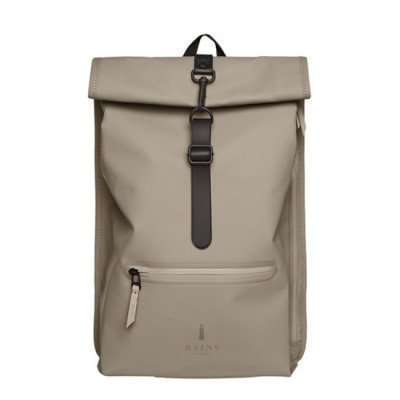 Rains Rains Roll Top Backpack Taupe