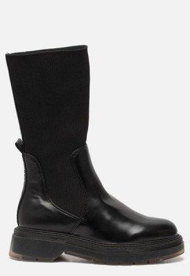 tamaris Tamaris Hoge chelsea boots zwart