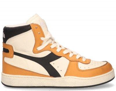 Diadora Heritage Diadora Heritage Mi Basket Used Off-White/Oranje/Zwart Herensneakers