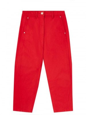 Matchesfashion Lemaire - High-rise Garment-dyed Cropped Jeans - Womens - Red