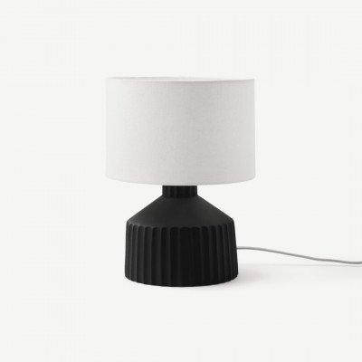 MADE.COM Kae kleine tafellamp, zwart