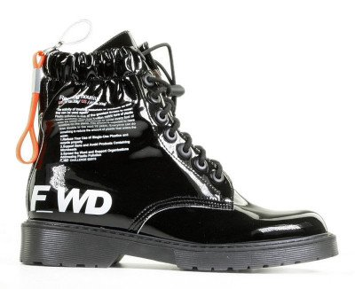 F-WD F-WD FW33041A Zwart Dames Veterboots