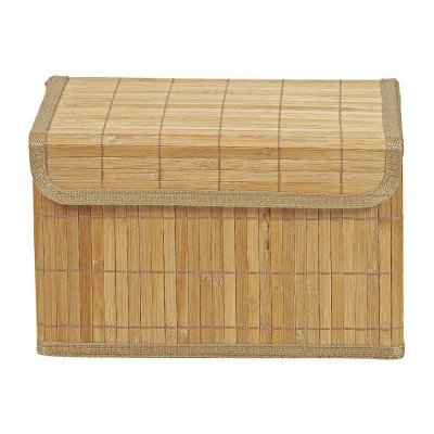Xenos Opbergmand bamboe latjes - 22x33x20.5 cm