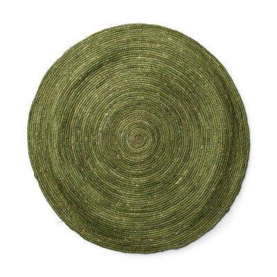 Xenos Vloerkleed groen - Ø87 cm