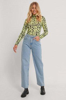 Emilie Malou x NA-KD Emilie Malou x NA-KD Rechte Jeans - Blue