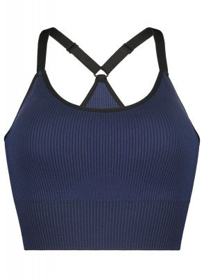 HEMA Padded Sport Top - Naadloos Donkerblauw (donkerblauw)